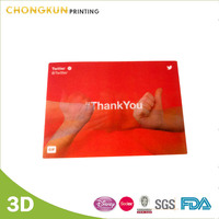 Lenticular PET plastic postcard with 3D printing