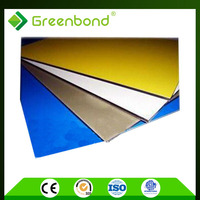 Greenbond para la decoracion 0.3/0.4mm espesor de aluminio panel