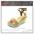 latest design summer comfortable women fancy wedge sandals