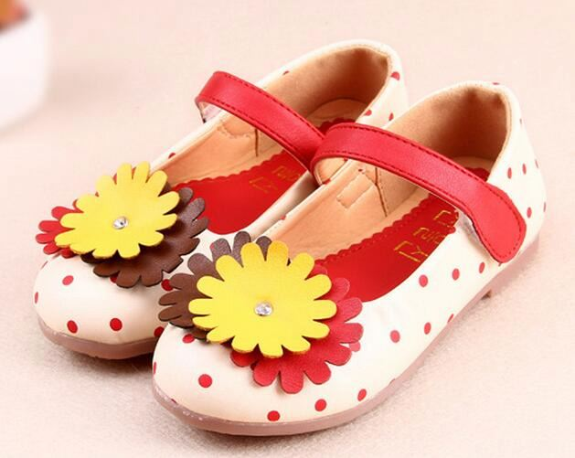 New Spring Autumn Children Girls Princess Shoes flower High Quality Kids casual Shoes