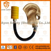 Portable long tube Full face anti gas mask with natural rubber material-Ayonsafety