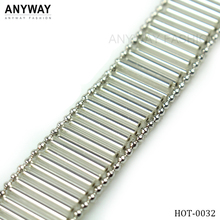 New style rhinestone mesh roll;beaded trim for wedding dress;bridal beaded trims for clothing