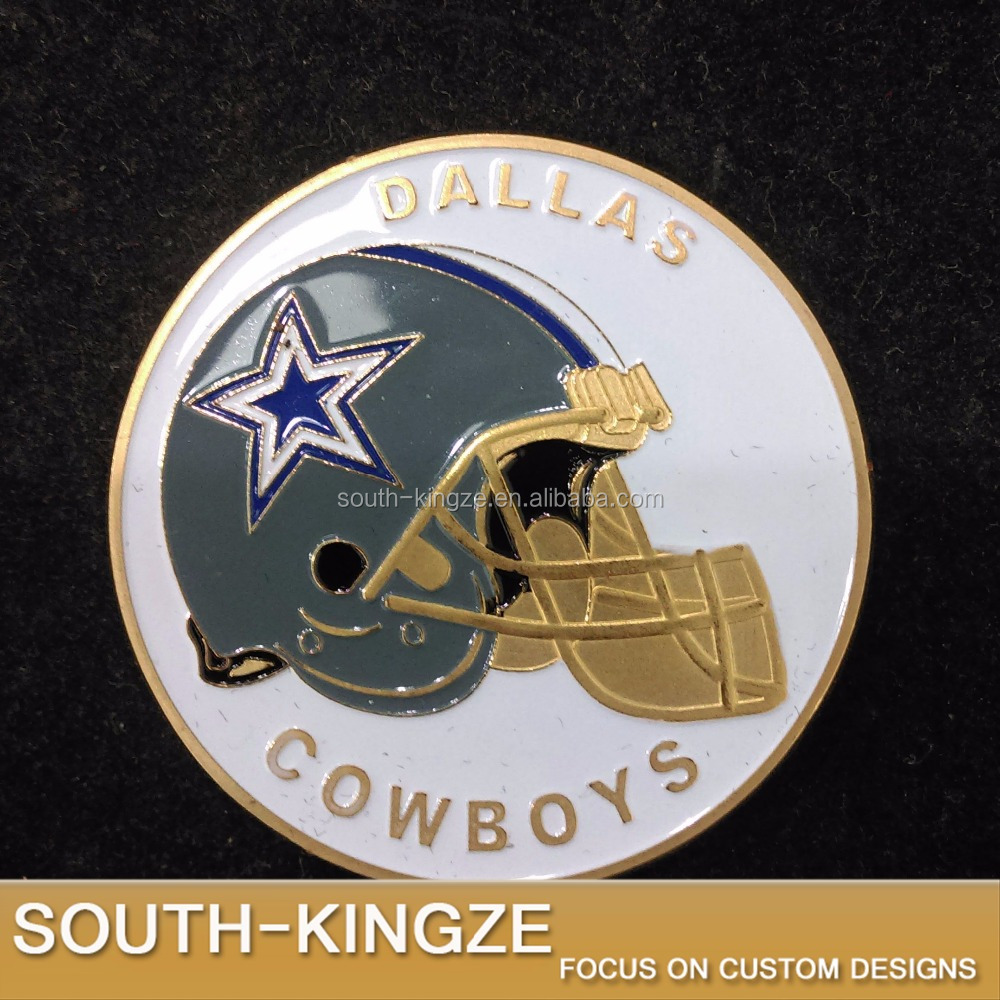 Dallas cowboys cheap sports medals a series of 3d double side brass souvenir challenge coin