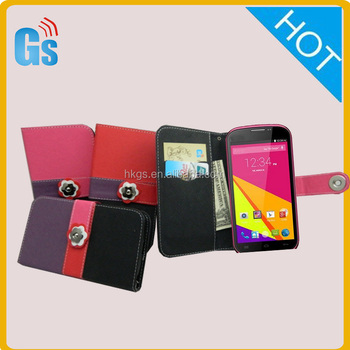 Wholesale Korean Fashion Sweet Love Flowers Card Slot Flip Leather Stand Case For Blu Studio 5.0 K / 5.0k D530K