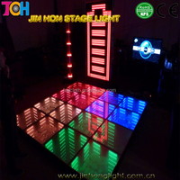 Newest professional Portable LED 3D mirror dance floor light for wedding disco party
