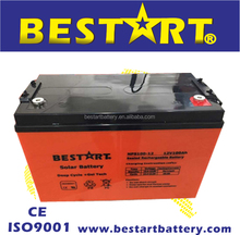 Top selling long life 12V 100Ah deep cycle Solar Battery for solar systems