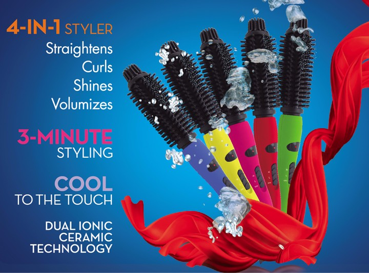 professional PTC heating LCD curling hair styling brush