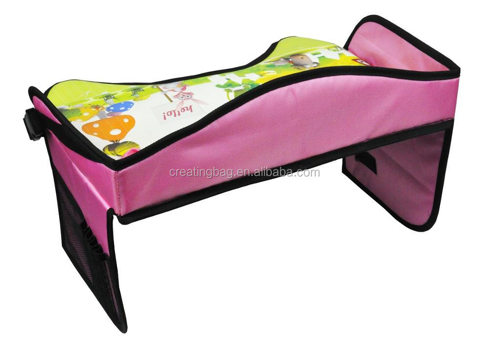 2017 Hot Sale Pink Animal Pattern Kids Travel Play Tray for Car backseat