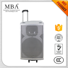 active pa system loud amplifier speaker with 15 inch bass