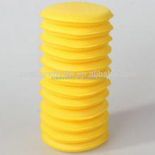 SAR car Soft 4'' Foam Sponge Pads yellow Polish Applicator Pad