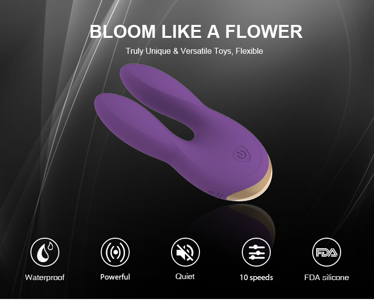 Flexible Rechargeable Medical Sex Toys Rabbit Vibrator Healthy and comfortable