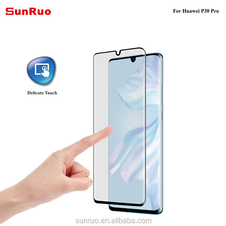 With Screen Protector Applicator Easy Install 3D Curved Tempered Glass Screen Protector  For Huawei P30 pro