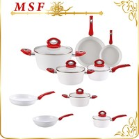 MSF as seen on tv kitchen 8pcs forged aluminum alloy cookware MSF-6097