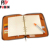 Top Quality a5 notebook leather notebook with card holder zipper closure notebook