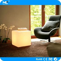 New model 3D outdoor LED cube light / rgb full color LED glowing light cube furniture