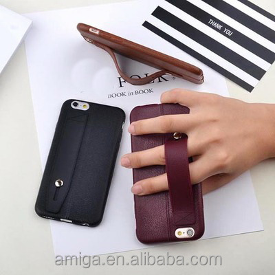 Low Price Leather Back Phone Cover Flexible TPU Silicone Hybrid Soft Slim Cover Case for iphone 7