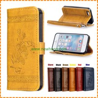 Retro embossing leather case for iphone 5 5s SE