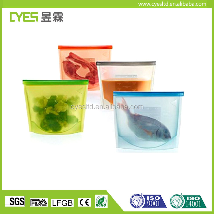 Special top quality factory price durable easy to clean reusable silicone food bag