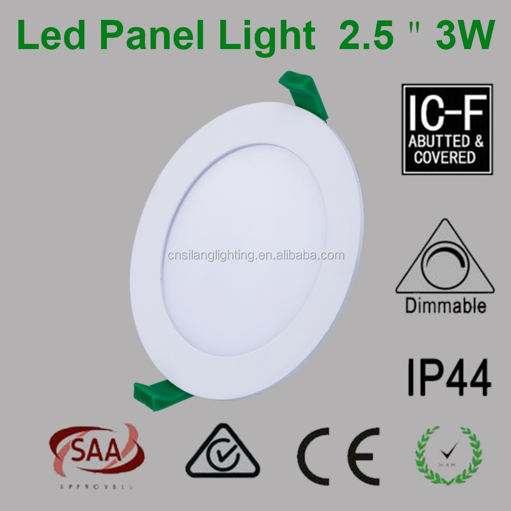 CE ROHS SAA RCM Ultra Slim Flat 4W Round Led Panel Light 3inch 95mm cutout with High PF Constant Current Led Driver