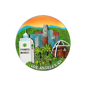 custom resin America los angeles souvenir fridge magnet