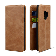 Leather Phone Wallet Case for Samsung Galaxy S9