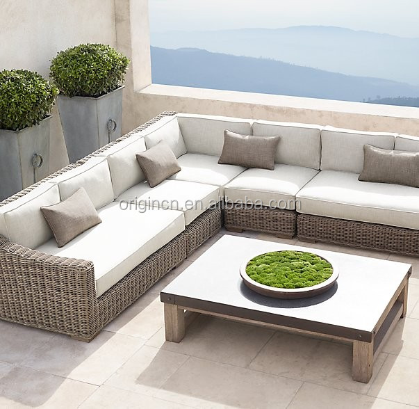 customized classic outdoor rattan sectional sofa with With outdoor sectional sofa big lots