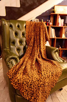 Unique Design New Fashion Leopard Knitted Cotton Throw Blanket/Rug/Quilt