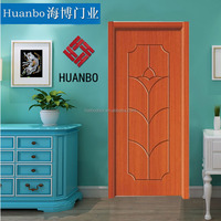 Deep cherry/esresso finish color wooden pvc interior doors for bed room