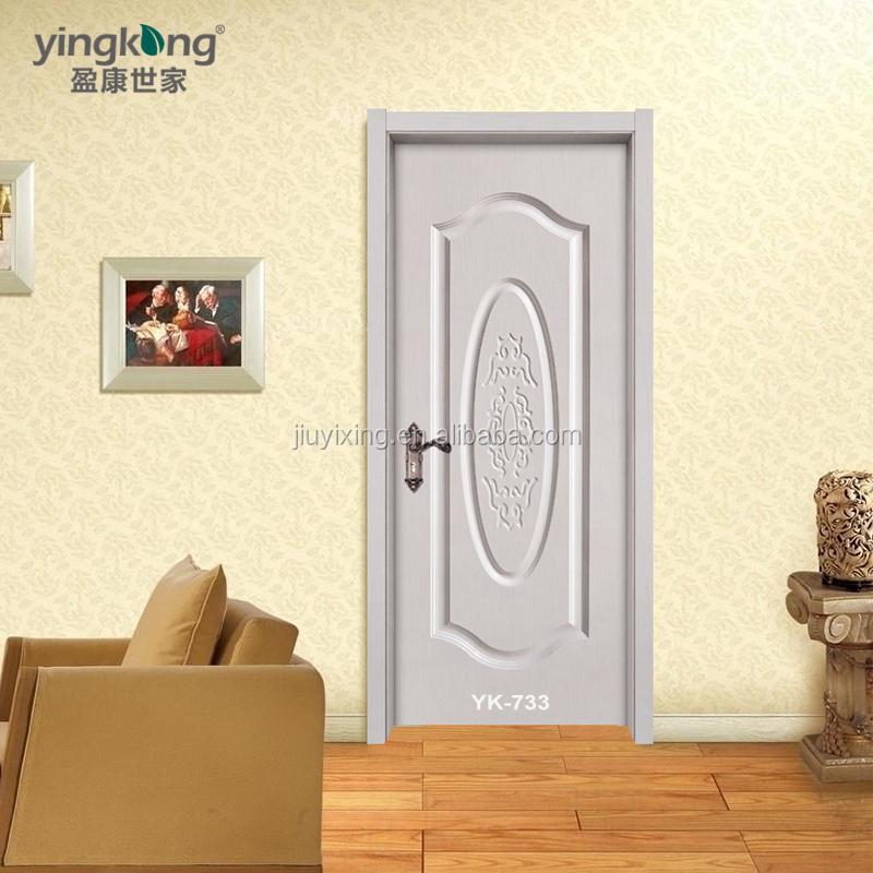 Yk 733 pvc toilet door pvc bathroom door price wpc frame for Pvc bathroom door designs