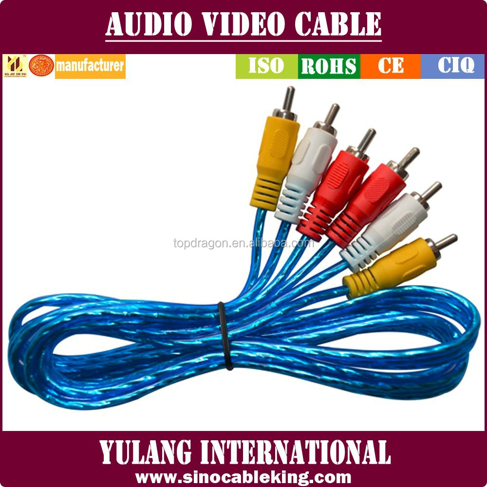 High End Audio Silver Plated Rca Cable With Gold Plated Rca Terminal