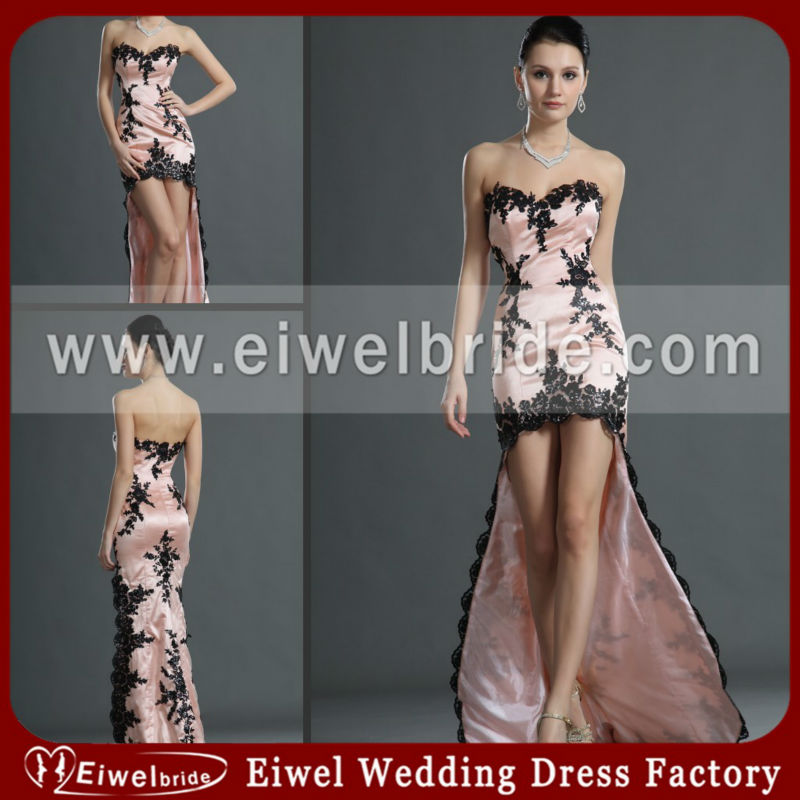 ed001 Graceful Sheath Sweetheart Hi-lo Young Mother of the Bride Dresses