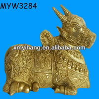 Personalized goat shaped high quality Bronze Sculpture