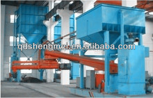 Movable double arm resin sand mixer continous sand mixer