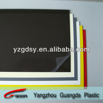 Rigid colorful glossy PVC sheets with PE masking