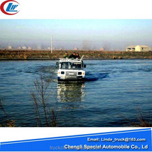 Dongfeng New design EQ2102 water and land use boat amphibious truck for sale