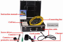 SONY 1/3 CCD 30m Cable 7'' TFT LCD Pipe Inspection camera With Built in DVR Borescope Endoscope