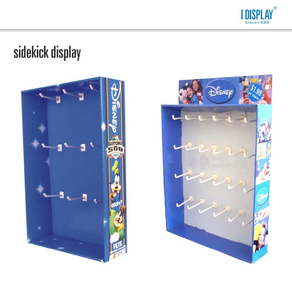 cardboard advertising wall hook display mobile phone accessory display