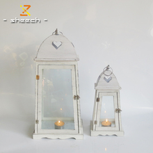 different size of decorative christmas white WOODEN lantern
