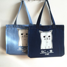 wholesale women's denim jean shoulder popular tote bags