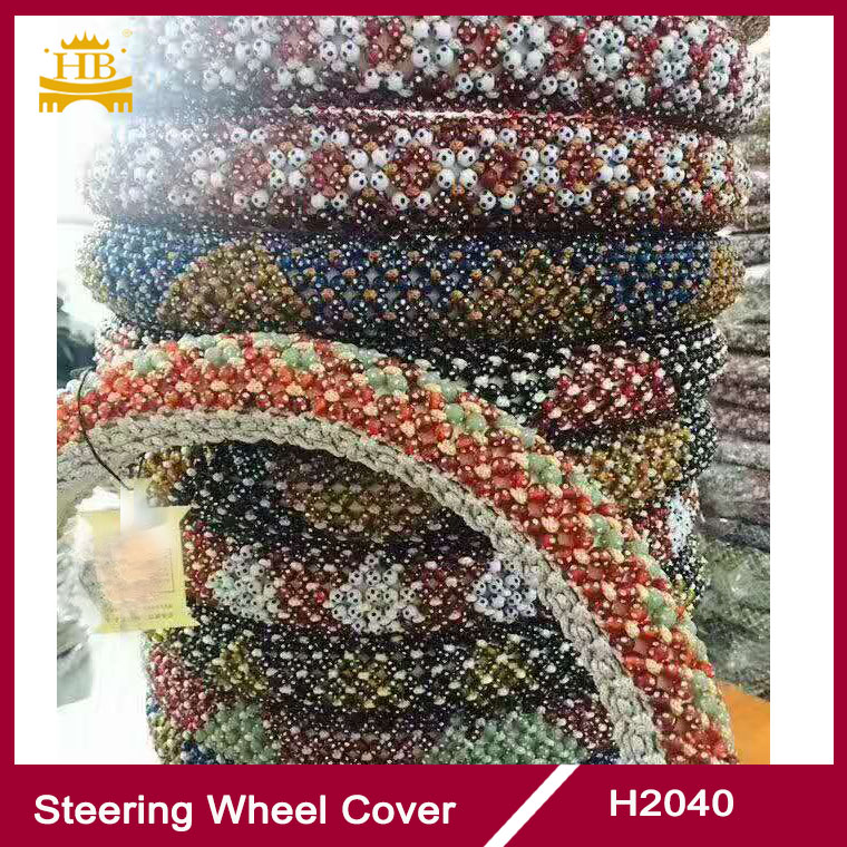 colorful bead car interior steering wheel cover