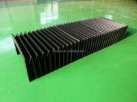 nylon cloth flexible linear bellows plastic cover