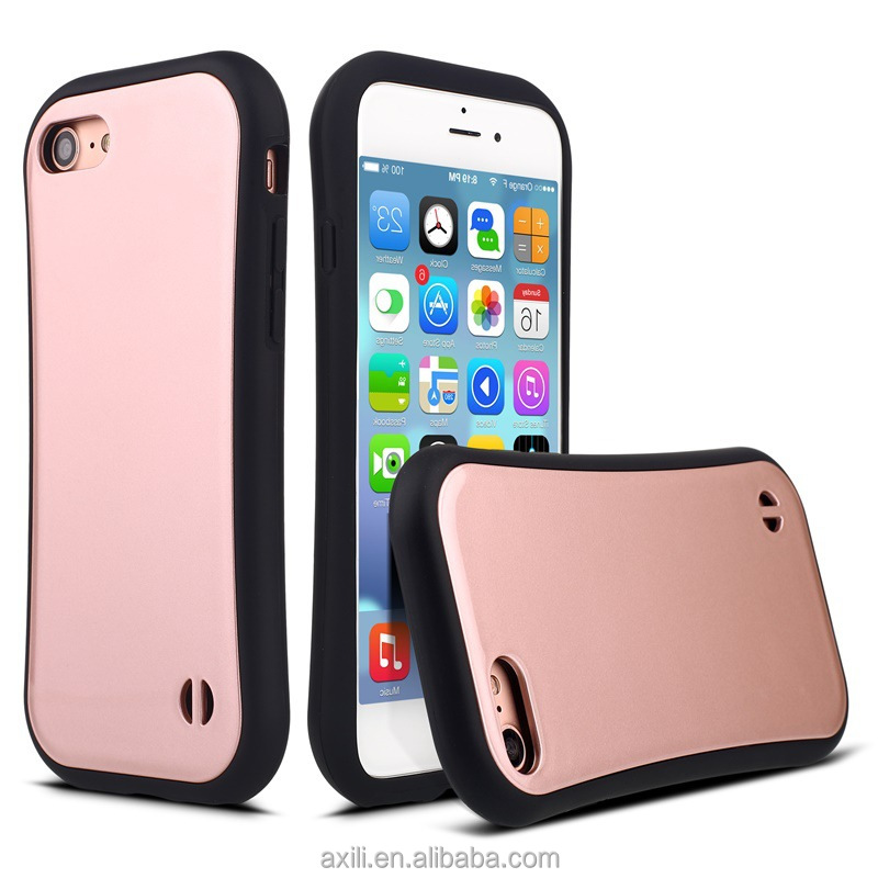 Good protect phone case for iphone 7 6 5se slim CZXMY TPU+PC yellow pink purple phone case cover for iphone 7 7 plus