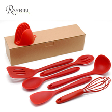 Silicone kitchen utensil set amazon best seller made in china 7 piece kitchen accessories tool
