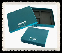 Blue Paper Cardboard Detachable Retail Box With EVA Foam Insert