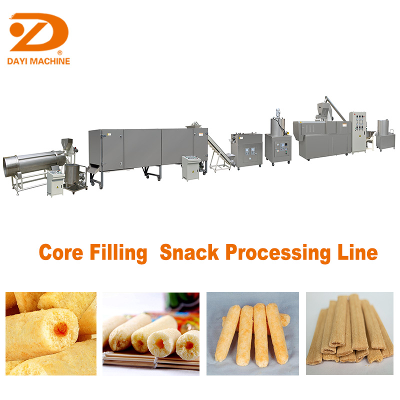 Core Filling Puff Food Making Machine Jinan DaYi Extrusion Machinery