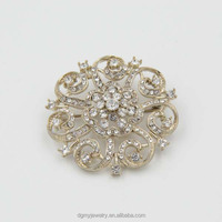 latest crystal magnetic tie brooch scarf clip brooch