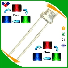 Round transparent led 3mm rgb led diode 2 pin