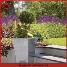 Zinc Flared Square Planter