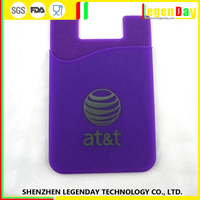 China Supplier silicone credit phone card holder