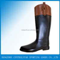 black shinny sex ladies horse riding boots WR-247